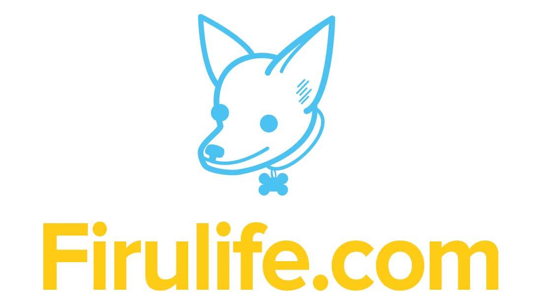Logo firulife.com - con nombre, para artículos